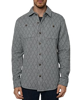 Robert Graham - Bresson Reversible Diamond Quilted Classic Fit Button Down Shirt Jacket