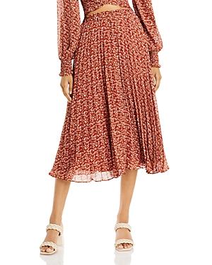 Rusty Pleated Midi Skirt