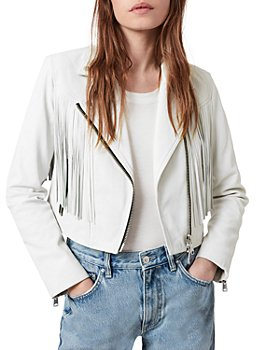 ALLSAINTS - Elora Leather Fringed Biker Jacket