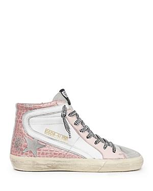 Golden Goose Deluxe Brand Women's Slide Mixed Media High Top Sneakers