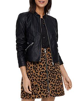 Vero Moda - Faux Leather Moto Jacket