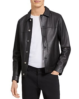 Theory - Patterson Leather Trucker Jacket