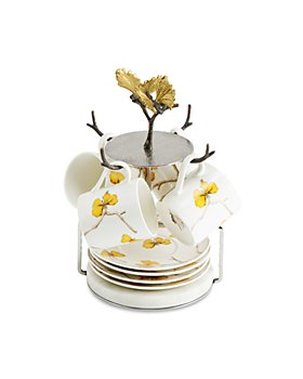 Michael Aram - Butterfly Ginkgo Demitasse Cup & Saucer Set with Stand