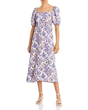 Puff Shoulder Midi Dress (61% off) Comparable value $128