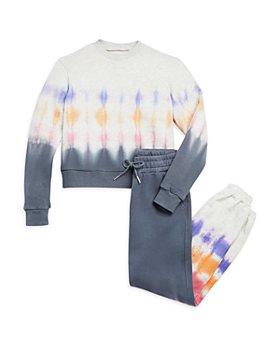 BLANKNYC - Girls' Tie Dyed Cotton Sweatshirt & Jogger Pants - Big Kid