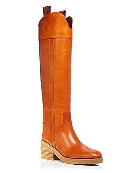 Jimmy Choo - Women's Tonya 70 Block Heel Pull On Boots