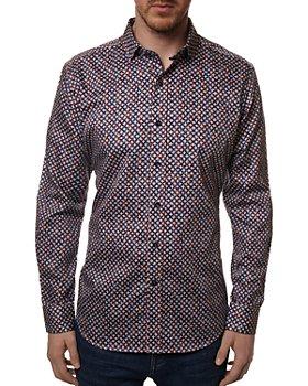 Robert Graham - Partlow Cotton Link Print Tailored Fit Button Down Shirt