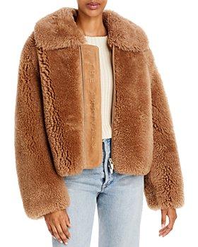 The Arrivals - Kala Shearling Zip Front Coat