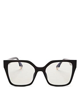 Fendi - Women's Square Blue Light Glasses, 54mm