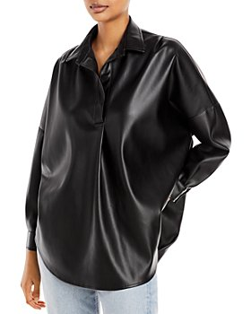FRENCH CONNECTION - Crolenda Faux Leather Shirt