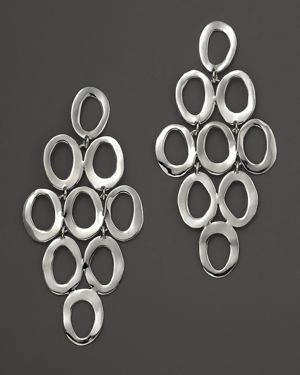 Ippolita Sterling Silver Open Oval Cascade Earrings