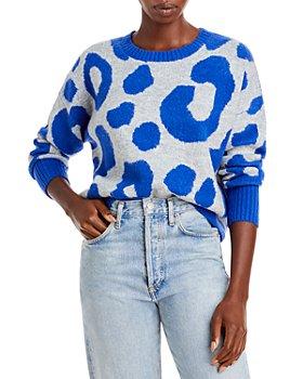 AQUA - Leopard Crewneck Sweater - 100% Exclusive