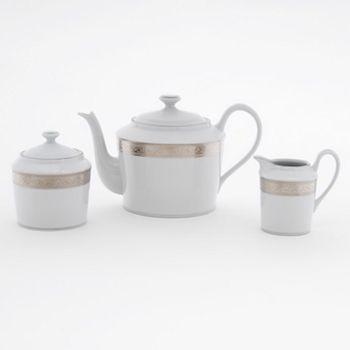 """Philippe Deshoulieres - """"Trianon"""" Platinum Teapot"""