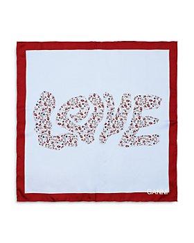 GANNI - Love Silk Twill Scarf
