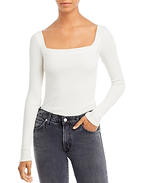 Citizens of Humanity Marisol Ribbed Square Neck Tee