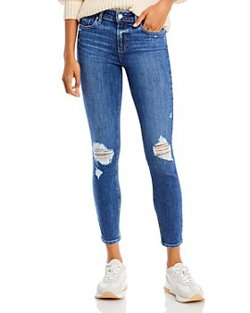 PAIGE - Verdugo Ankle Jeans in Bree Destructed - 100% Exclusive