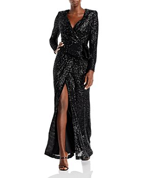 Eliza J - Sequined Wrap Gown