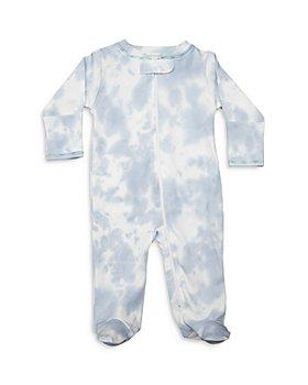 Noomie - Boys' Sky Blue Tie Dye Print Footie - Baby