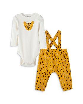 FOCUS Kids - Unisex Leopard Bodysuit & Printed Overall Set - Baby