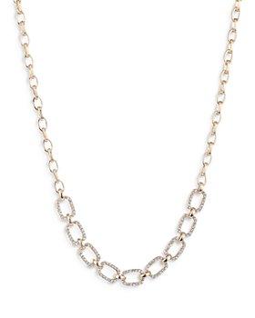"Ralph Lauren - Crystal Pave Link Collar Necklace, 19"""
