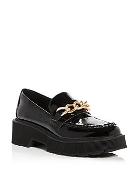 AQUA - Women's Brynn Patent Chain Detail Loafers - 100% Exclusive