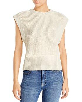 AQUA - Extended Shoulder Sweater Vest - 100% Exclusive