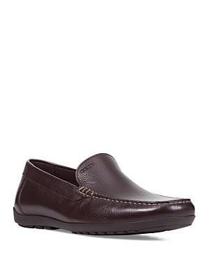 Geox Men's Tivoli Leather Moc Toe Loafers