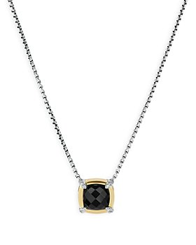 David Yurman - Petite Chatelaine® Gemstone & Diamond Pendant Necklace Collection with 18K Yellow Gold