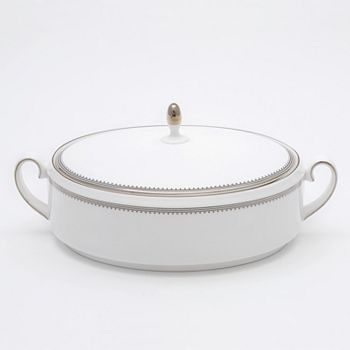 "Vera Wang - for Wedgwood ""Grosgrain"" Covered Vegetable Bowl"