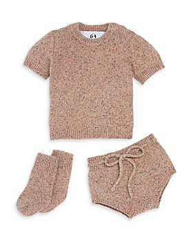 The Bright Side - Girls' Mélange Crewneck Sweater, Bloomers & Socks Set, Baby - 100% Exclusive