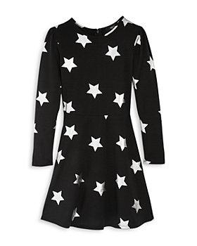 AQUA - Girls' Metallic Star Dress, Big Kid - 100% Exclusive