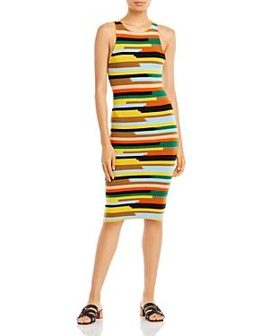 Jenner Striped Midi Dress