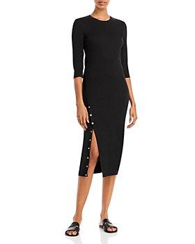 Theory - Side Slit Midi Dress