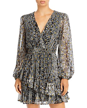 AQUA - Asymmetrical Ruffle Dress - 100% Exclusive