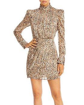 AQUA - Puff Shoulder Mini Dress - 100% Exclusive