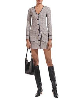 STAUD - Fairham Button Front Mini Dress