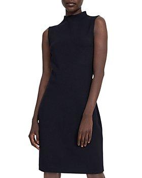 Theory - High Neck Double Knit Jersey Dress