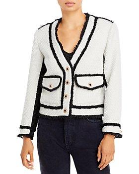AQUA - Boucle Contrast Trim Jacket