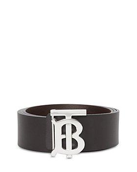 Burberry - Men's Reversible Monogram Plaque Buckle Leather Belt