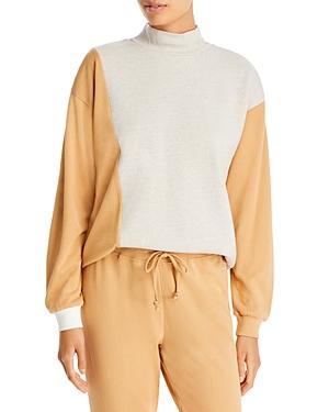 Maeve Cotton Color Blocked Sweatshirt