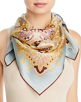 Fraas - Scroll Silk Square Scarf - 100% Exclusive