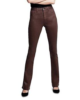 L'AGENCE - Selma High Rise Sleek Baby Bootcut Jeans in Dark Mocha Coated