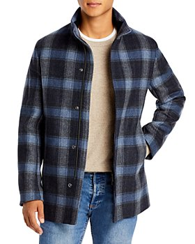Theory - Clarence Regular Fit Plaid Coat