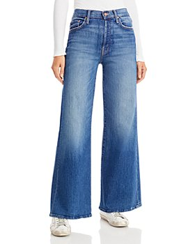 MOTHER - The Tomcat Roller Wide Leg Jeans in Where Is My Mind?