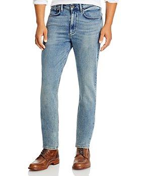rag & bone - Slim Fit Loopback Jeans