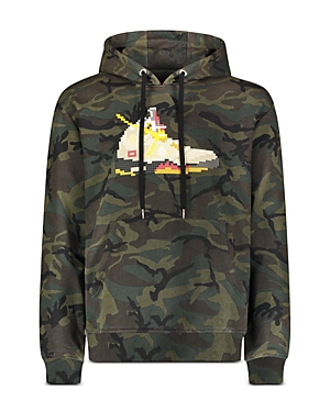 8-Bit by Mostly Heard Rarely Seen Camo Sneaker Graphic Hoodie