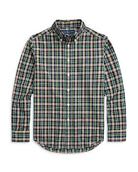 Ralph Lauren - Boys' Plaid Cotton Shirt - Little Kid, Big Kid