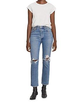 AGOLDE - Riley Crop Straight Leg Jeans in Whiplash