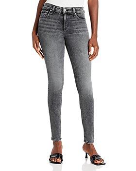 rag & bone - Cate Mid Rise Skinny Jeans in Black Opal