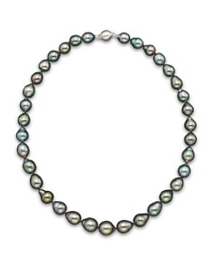 """Natural Color Tahitian Pearl Strand Necklace in 14K White Gold, 18"""" - Bloomingdale's_0"""